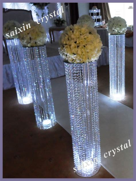 decoration stand chic wedding flower gate decoration with led stand