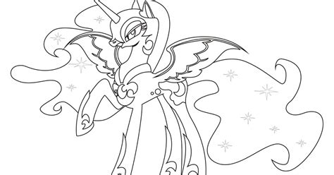 nightmare moon coloring pages team colors