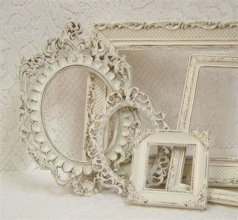 shabby chic photo frames picture frames shabby chic picture frame set ornate frames ivory heirloom white victorian