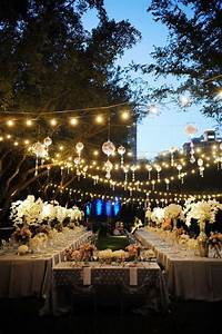 Outdoor hanging lighting ideas home design elements for Outdoor wedding reception lighting