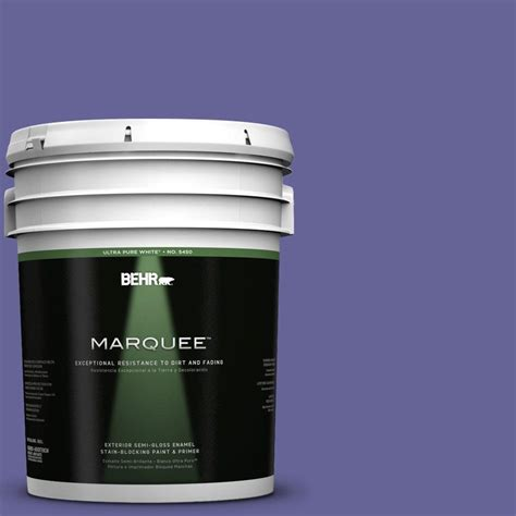behr marquee 5 gal t15 13 prime purple semi gloss enamel