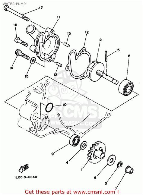 yamaha yz125 competition 1986 g usa water schematic partsfiche