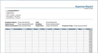 Expense Record Template by Expense Report Template Free Layout Format