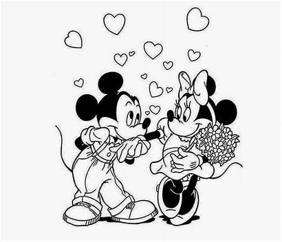 Mickey Minnie Mouse Drawing Disney Coloring Couple