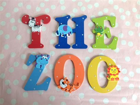 Children Bedroom Nursery Wall Door Wooden Name Letter