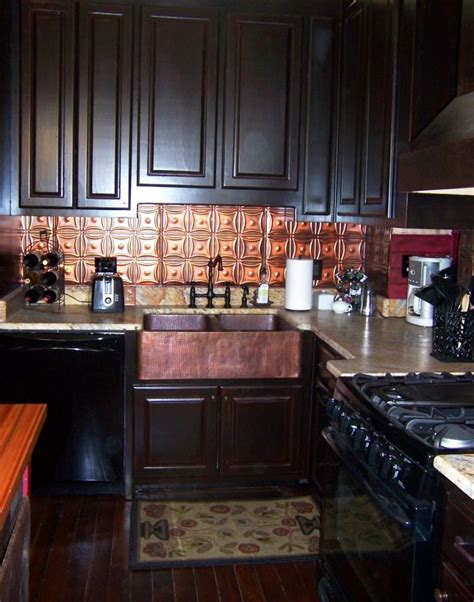copper backsplash for kitchen how to install a beautiful tin backsplash beautiful 5783