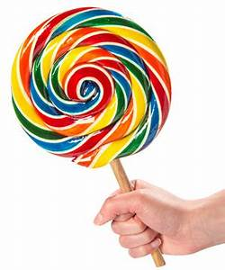 Giant Lollipop: Traditional style sucker the size of your
