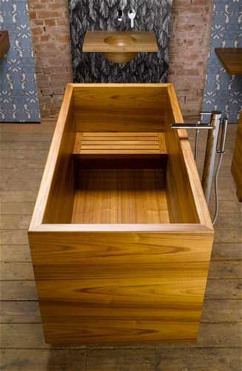 wooden bathtub ideas  pinterest