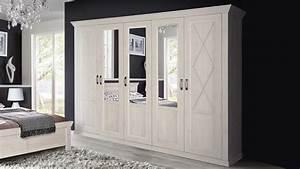 Kleiderschrank Pinie Weiß : kleiderschrank kashmir schrank in pinie wei mit spiegel 268 ~ Frokenaadalensverden.com Haus und Dekorationen