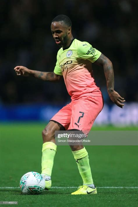 News Photo : Raheem Sterling of Man City in action during ...