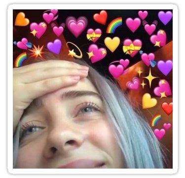 billie eilish love sticker   billie eilish cute