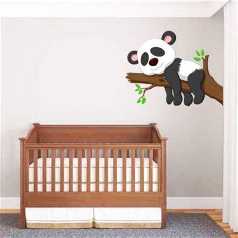 stickers chambre bebe fille sticker bébé panda un sticker pour décoration chambre