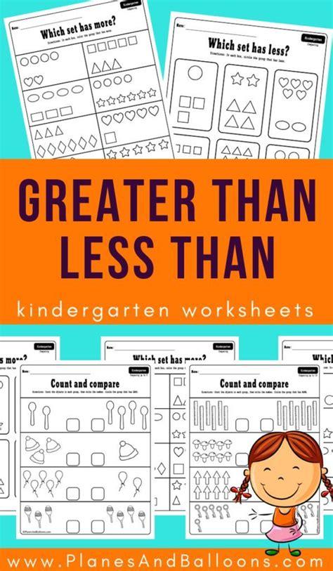 greater    kindergarten worksheets