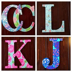 17 best images about wooden letters on pinterest alpha With lilly pulitzer wooden letters
