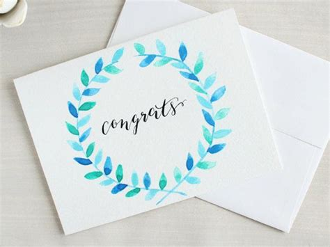 Parents feel just proud when they saw their child get a degree after wearing the graduation gown. Congratulations Card Congrats Card Bridal by ThePaperSparrowShop   Congrats card ...