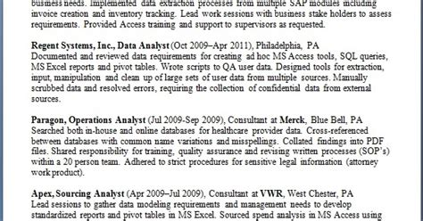 data analyst resume templates in word format free download