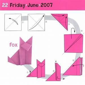 Simple Origami Fox
