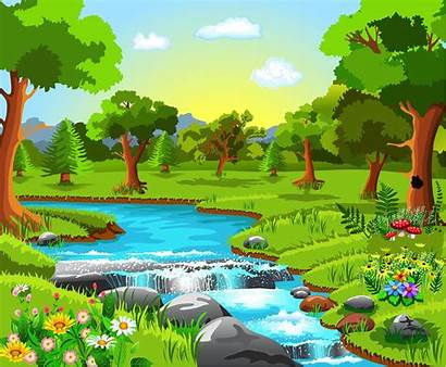 Clipart Environment Scenery Natural Forest Landscape Clip