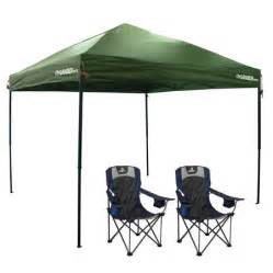 gander mountain combo canopy with two lumbar support chairs
