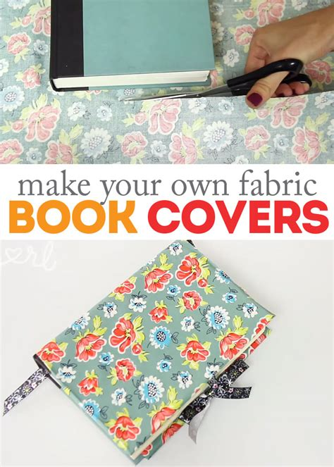 how to make a with cloth how to make diy fabric book covers