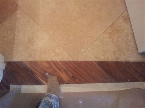 travertine transition wood to porcelain transition flooring contractor talk