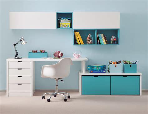 couverture pour canape bureau enfant avec meuble de rangement et niche déco