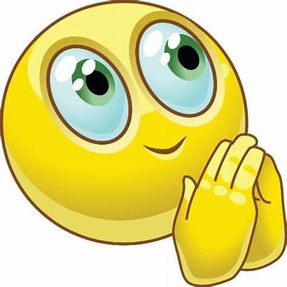Emoji Praying Hands Smiley Prayer Emoticon Blushing