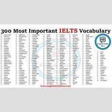300 Most Important Ielts Vocabulary List  English Study Here
