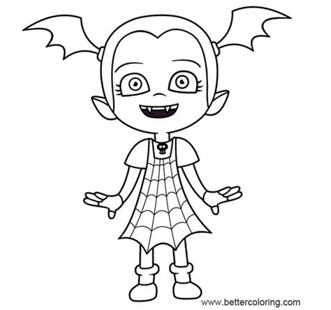 vampirina coloring pages outline image  printable