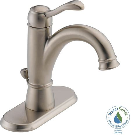 Delta Olmsted Centerset Faucet by Delta Brushed Nickel Faucet Brushed Nickel Delta Faucet