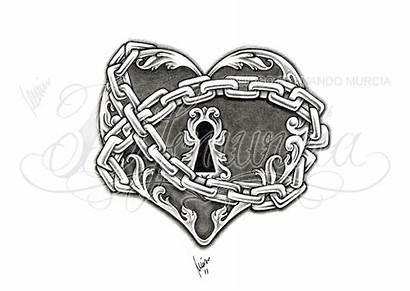 Heart Lock Key Deviantart Dfmurcia Tattoo Chain