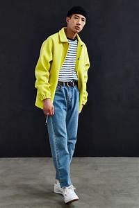 90er Outfit Herren : uo wool coach jacket mens clothing i like pinterest mode m nner mode und herren mode ~ Frokenaadalensverden.com Haus und Dekorationen