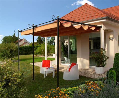 tonnelle de terrasse adossee tonnelle adoss 233 e ideanature le bonheur se met au vert espace jardin espace terrasse
