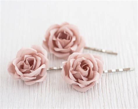 blush wedding hair pin pink rose hair pin bridal