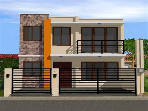 home plans and designs simple 2 storey house design modern house plan