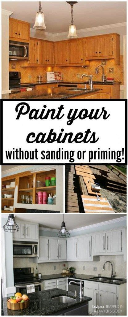 how to refinish cabinets without sanding how to paint kitchen cabinets without sanding or priming