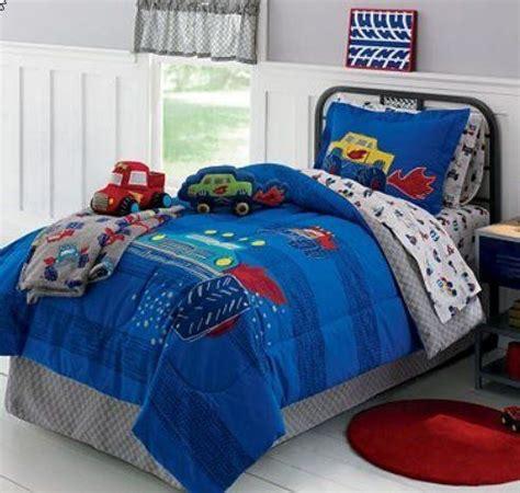 monster trucks boys full comforter set  piece bed