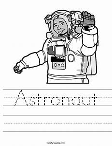 Astronaut Printable Worksheet (page 4) - Pics about space