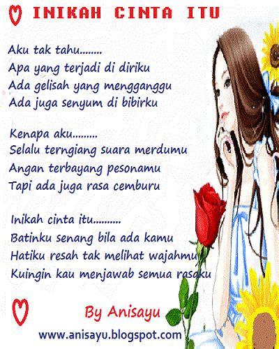 puisi cinta  anisayu inikah cinta