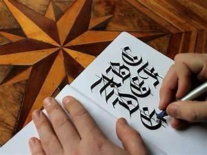 Seb lesterin ortacag tipografi calismasi video for Seb lester demonstrates medieval blackletter caligraphy