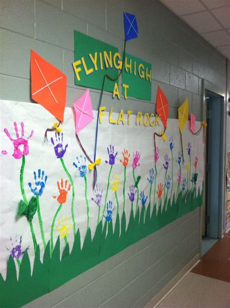 spring kite bulletin board  created  student