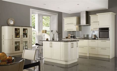 Sectional White Kitchen Cabinets With Grey Glaze Combined