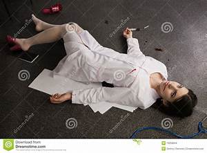 Nurse Lying On The Floor Stock Images - Image: 19258694