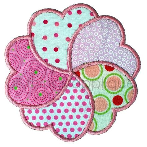 free applique designs items similar to s applique design petal