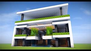 BIG SURVIVAL MODERN APARTMENT BASE! Minecraft Tutorial: Modern House 2017