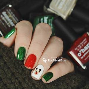 Totally cute christmas designs for short nails be modish