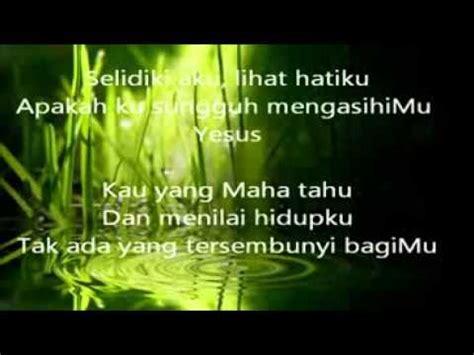 Lagu Rohani Kristen Nikita Selidiki Aku Youtube