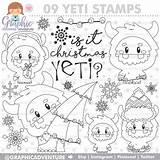 Yeti Coloring Winter Stamps Stamp Commercial Monster Digital Digi Cards Craft Kleurplaten Crafts Visit Frame Verkauft Produkt sketch template