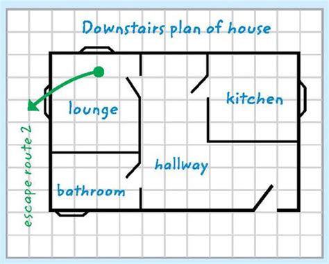 printable fire escape plan escape plan template cornwall council