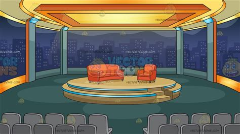 Talk Show Background A Talk Show Studio Background Clipart Vector